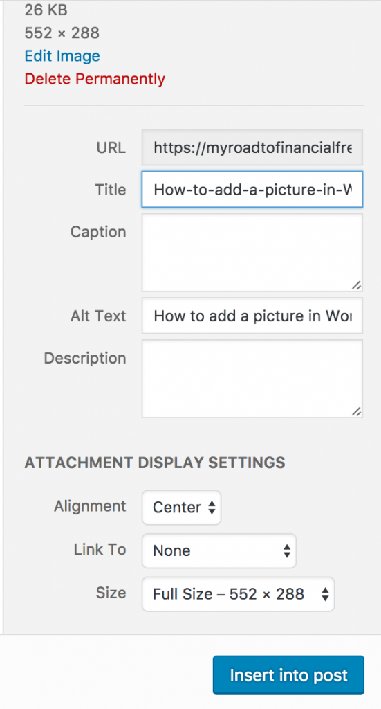 How to add a picture in WordPress
